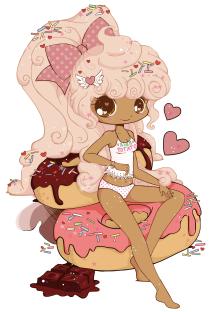 Hush Potato Donut Girl Commish